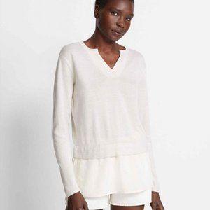 ✨Club Monaco V-neck Layered Sweater Sz XS